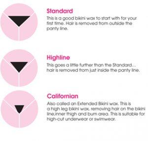 Standard bikini wax